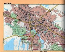 Карта Астаны