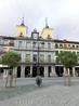 Ратуша, где расположена мэрия. Здание возведено в 1622 г. Педро де Брисуела (Pedro de Brizuela) с двумя башенками и выступом с часами.