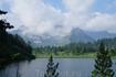Озеро 1430 м. И кинзелюкский цирк в облаках.