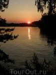 закат над пироговским водохранилищем
