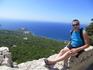 Шикарный вид на Эгейское море с крепости в Монолитос