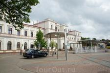 Железнодорожный вокзал города Лиепая