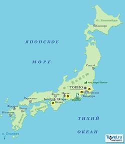 Карта Японии на русском