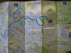Карта Тихвина