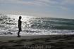 Тирренское море и чёрный песок Ладисполи