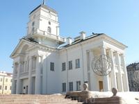 """Ратуша.  Минская ратуша была построена в конце XVIII века. Разрушена в 1851 г. по личному приказу российского императора Николая I """"для упорядочения ..."""