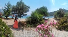 красивый пейзаж заповедной части пляжа