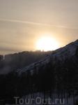 Заход солнца в горах