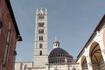 Вид на колокольню Собора Дуомо со стороны несостоявшегося нового Дуомо...