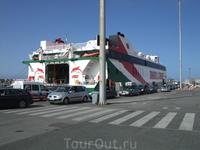 Тарифа. Паром, на котором мы поплывем через Гибралтар в Танжер