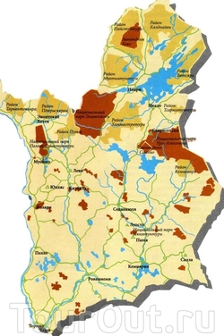 Карта национальных парков Лапландии