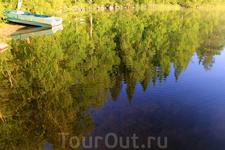 Озеро как зеркало...
