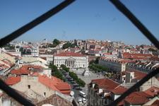 вид на центральную площадь Лиссабона