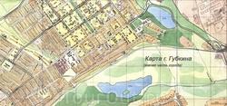 Карта южной части Губкина
