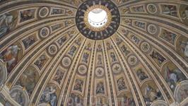 Купол собора Св Петра изнутри