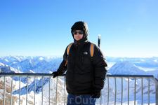 На панорамной площадке Zugspitze, 2962m