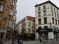 Улочка в Брюсселе.