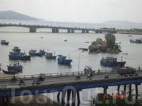 Нячанг. Лодки рыбаков на реке Кай