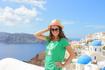 Санторини...невероятное сочетание красок:море,ослепительно белые домики,голубые крыши...
