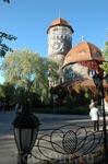 Символ Светлогорска - башня водогрязелечебницы.
