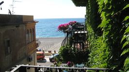 Вид на море с балкона номера