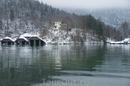 Озеро Кёнигсзее,никогда не замерзает.