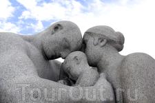 Семья, в парке скульптур Вигеланда
