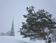 Palotorrinvuoren puisto (парк пожарных), видна верхушка главной церкви Котки