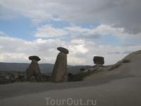 А вот и знаменитые грибы Каппадокии