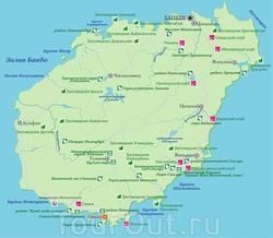 Карта достопримечательностей Хайнаня