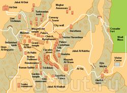 Карта Петры с достопримечательностями