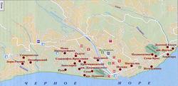 Карта санаториев Сочи