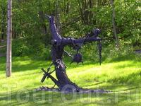 Сам же парк Экерберг представляет из себя смесь современного искусства с квестом...