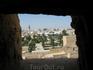 Вид на город через бойницы монастиря...