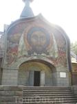 Церковь Святого Духа в Талашкино освящена не была - слишком много нарушений канонов, но фреска работы Н. Рериха удивительно пронзительная.