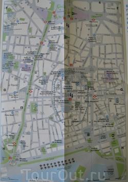 Карта центра Барселоны