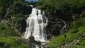 Большой Имеретинский водопад. Состоит из трех ступеней,общая высота около 100м,нижняя,самая высокая часть 45 метров