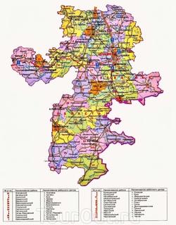 Карта Челябинской области по районам