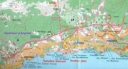 Карта Алупки с достопримечательностями