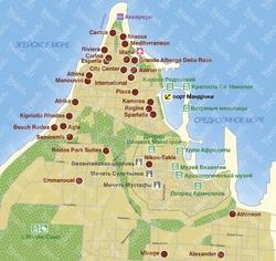 Карта Родоса с достопримечательностями