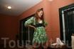 в зелененьком платьице