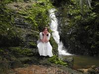 Водопад Тон Сай, заповедник Кхао пра Тхео на Пхукете.