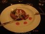 картофельный блин в ресторане Hilla