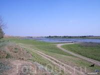 Место раскопок бывшей столицы Золотой Орды - Сарай Бату