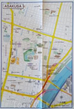 Карта Асакуса в Токио