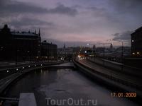 Стокгольм рано утром