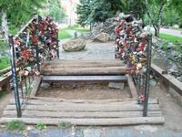 Мост влюбленных с замочками