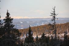 Вид с террасы домика