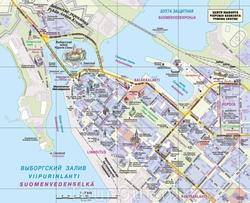 Туристическая карта Выборга