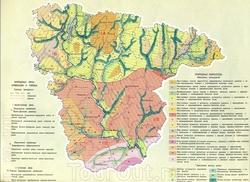 Растительный мир на карте Воронежской области